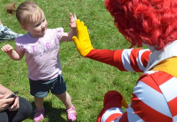 Ronald with Melissa's daughter
